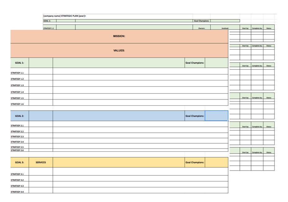 SmallDotBig Strategic Planning Template